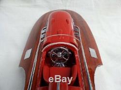 Modèle De Bateau De Vitesse En Bois Ferrari Hydroplane 20 & Riva Tritone 26 De Qualité