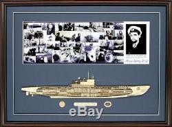 Modèle En Bois Découpé, Édition Signée Du U-boat De Type VII Fabriqué Aux Etats-unis