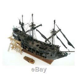 Modèle En Bois Pirate Ship Full Scene Black Pearl Sailing Boats Bateau Modèle Kit Diy