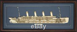 Modèle En Coupe De Bois De Rms Titanic Fabriqué Aux États-unis