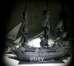 Modèle Fait Main De Bateau De Bateau D'assemblage Nouveau Pirate Noir De Perle 80cm Kit En Bois De Modèle