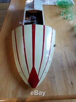 Modèle Rare Gas Vintage Hydravion Tether Bois Bateau