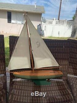 Modèle Sail Boat Yacht Étang En Bois Massif