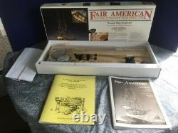Modèle Shipways Fair American 14-gun Privateer Kit En Bois + Planking Book