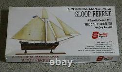 Modèle Sterling De Cru Un Homme Colonial De La Guerre Sloop Ferret Kit De Modèle De Navire En Bois