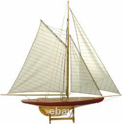 Modèles Authentiques 1895 Sail Model Defender New As055 Rare Sailboat Ship USA