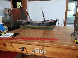 Modèles De Navires Anciens Folk Art Projet De Coque De Bateau Nautique Nouvelle Angleterre