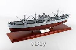 Navire Cargo Naval Mbrlibtr De La Marine Américaine, Modèle De Bateau En Bois, Seconde Guerre Mondiale, Assemblé
