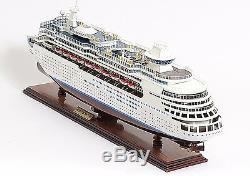 Navire De Croisière Majesty Of The Sea Royal Caribbean 31 Maquette Du Bateau En Bois Assemblé
