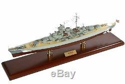 Navire De Guerre Allemand Bismarck, Bateau De La Marine De La Seconde Guerre Mondiale, Modèle En Bois 29 Assemblé