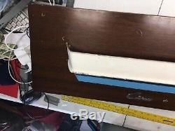 Navire En Bois À Demi-coque Chris Craft Original Modèle De Bateau Chris Smith 1/1 Bleu Blanc