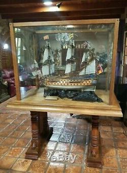 Navire En Bois Modèle San Felipe Afficher Grand Voilier Marine Espagnole