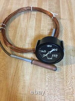 Nos Chris Craft Old Wood Boat Temperature Gauge Hot Rod Trog Scta 15 Foot Lead