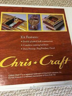 Nouveau Dumas 1249 1949 19' Chris Craft Racing Runabout 28 Model Boat Kit Wood
