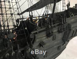 Nouveaux 2019 Pirates Perle Noire Kit Expédier Modèle En Bois 80cm Bateau Kits De Navires En Bois