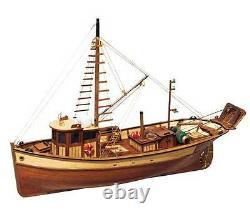 Occre Palamos Bateau De Pêche 145 Échelle 12000 Idéal Débutants Modèle Boat Kit