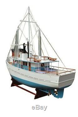 Oversize Bateau De Pêche Modele 10ft Dickie Walker Replica Assemblé Décor Bois Navire