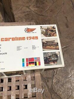 Panart Royale Caroline 1749 Échelle 147 Bois Bateau Unbuilt Modèle Italie Htf