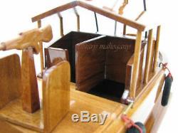 Pbr Mkii Patrol River Boat Vietnam Brown Navy Seal Eau Bois Modèle En Bois Nouveau
