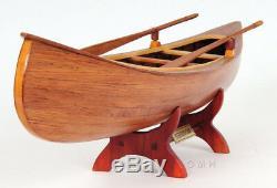 Peterborough Canadian Canoe Modèle En Bois 24 Construit Entièrement Assemblé Bateau Nouveau
