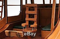 Pilar Pêche Ernest Hemingway Bateau Modèle En Bois 27.5 Motor Yacht Nouveau