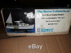 Produits Midwest Maine Lobster Boat Kit # 953 Modèle Bois 24 Longueur Nib