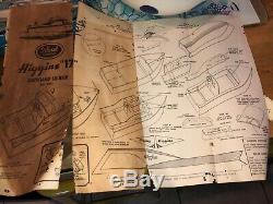 Rare 1959 Idéal Higgins 17 # 1551 Bois Acajou Puissance De Bateau Maquette Complet