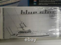 Rare Boutes Billing Blue Star 596 Cabin Cruiser Modèle Cadeau Pêche Bois