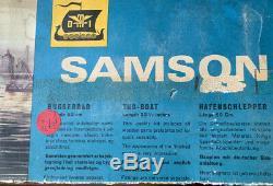 Rare Danish Ship Model Kit Samson Remorqueur Vnt En Bois Par Des Années 60/70 DMI