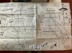 Rare Sergal Hms Peregrine Galley Modèle De Navire En Bois De 1973