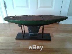 Rare Vintage Jacrim Seaworthy Bateaux Jouet Modèle Étang En Bois Yacht À Voile Bateau 2
