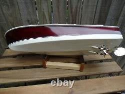 Rare Vintage Japon Ito 18 Wood Model Boat Twin Motors, Remis À Neuf, Superbe
