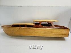 Rare Vintage Sterling Harco 40 'modèle De Bateau Modèle En Bois De Croisière De Luxe 40' 1960