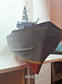 Rc Handmade 1.4m Modèle En Bois Cuirassé À Distance Navire De Bateau Fabriqué À La Main