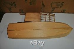 Rc Vintage 50 'catalina Cruiser, Modèle Partiellement En Bois, Bateau De Sterling
