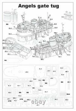 Remorque Angels Gate 308 MM Échelle 196 Rc Modèle Kit Remorqueur Bateau De Travail