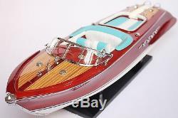 Riva Aquarama Boat 21 (53cm) En Bois, Modèle USA Retour