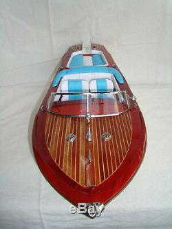 Riva Aquarama L90 Bateau Rapide En Bois Model Boat 34 Bateau Italien Fait À La Main