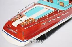 Riva Aquarama Lamborghini Boat 28 (70 Cm) En Bois Modèle