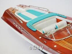 Riva Aquarama Lamborghini Boat 28 (71cm De Long) Bois Modèle Miniature