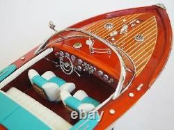 Riva Aquarama Lamborghini Wood Boat Modèle 21 (53 Cm)