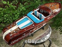 Riva Aquarama Speed boat 20 Bois En Bois Fait Main Modèle Italien Speed boat Nouveau