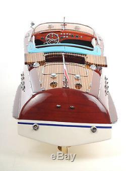 Riva Aquarama Speed boat Peint 26.5 Modèle Bois Assemblé