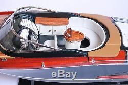 Riva Aquariva Boat 27 (68cm) En Bois Miniature