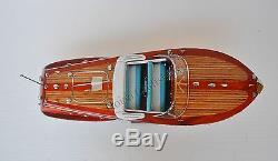 Riva Ariston Speed boat 21 Blanc Et Bleu Modèle De Bateau En Bois