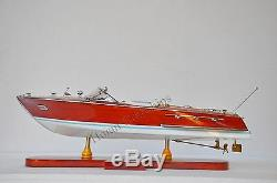 Riva Ariston Speed boat 21 Rouge Et Blanc Modèle De Bateau En Bois