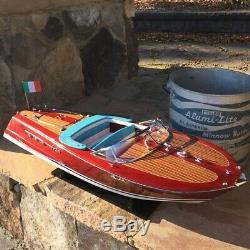 Riva Ariston Vintage Modèle Bois Boatan Impressionnant 36 Taille Longue