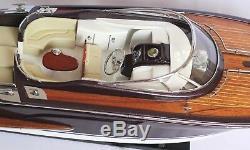 Riva Rama Boat 25 (63cm) En Bois Miniature