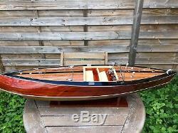 Riva Stan Craft Torpedo 26, Bateau Modèle En Bois, Bateau À Voile Italien Fait Main De 70 CM