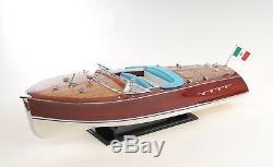 Riva Triton Painted Speed boat Grande 36 Modèle Bois Assemblé Bâti